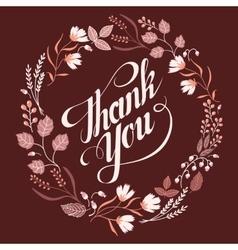 Autumn wedding floral frame collection sign thank vector