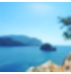 Blurred seascape background vector