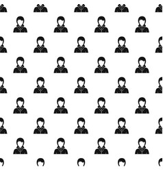 businesswoman avatar pattern vector image