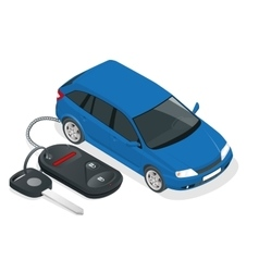 Car rental or sale concept car and car vector