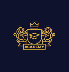 Coat of arms academy vector