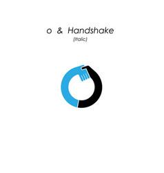 Creative o- letter icon abstract logo design vector