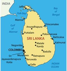 Democratic Socialist Republic of Sri Lanka - map vector image