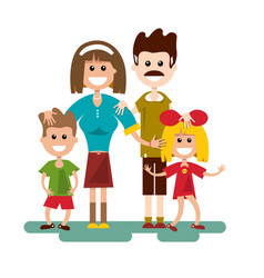 Family cartoon flat design vector