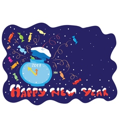 Five minutes before the new year vector image vector image