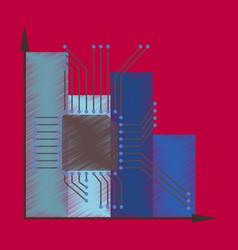 Flat shading style icon nanotechnology vector