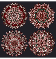 geometric doily pattern collection vector image