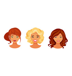 hair color set vector image vector image