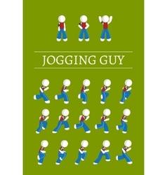 Jogging guy vector