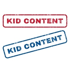 Kid content rubber stamps vector