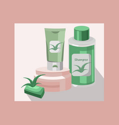 organic cosmetics set package hydration vector image vector image