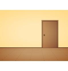 Pale interior with door vector