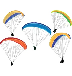 Paragliding collection - vector