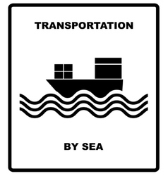 Passenger and cargo transportation by sea vector