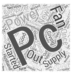 Pc power supply word cloud concept vector