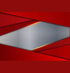 Red geometric and light abstract background vector