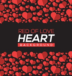 Red Of Love Hearts Background vector image
