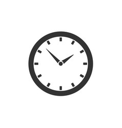 round clock icon isolated on white background vector image vector image