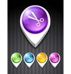 scissor icon vector image vector image
