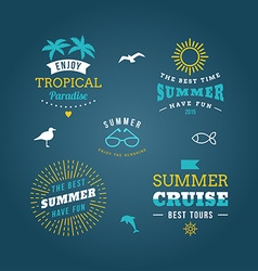 Set of Design Elements Retro Summer Holidays vector image