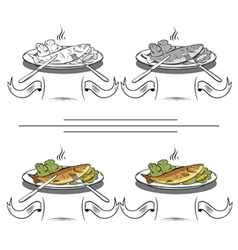 set of different images of fish vector image vector image