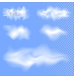 Set of different isolated clouds EPS 10 vector image vector image