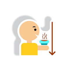 stylish icon in paper sticker style man drinking vector image vector image