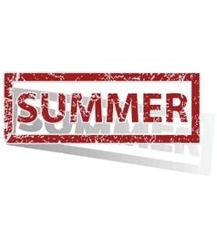 Summer outlined stamp vector