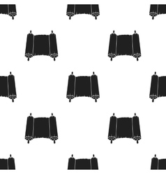 Tanakh icon in black style isolated on white vector image vector image