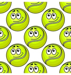 Tennis ball seamless pattern vector