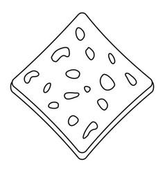 Tofu fresh block icon outline vector