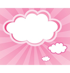 A cloud with a pink background vector