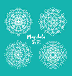 set of mandala decorative and ornamental vector image