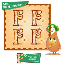 Spot the difference letters f vector