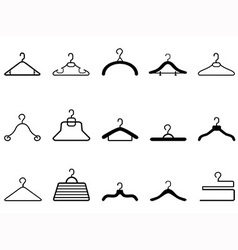 Clothes hangers icon vector