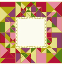 Colorful Geometric Pattern Card Design vector image