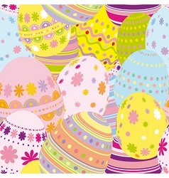 Seamless easter eggs background vector