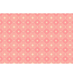 Cherry blossoms or sakura pattern on pastel color vector