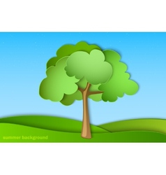 Green tree with summer vector