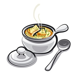 Onion soup vector