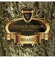 Vintage lable frame for business identity vector