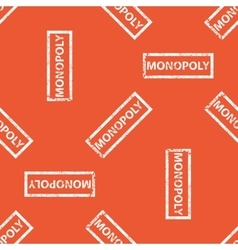 Orange monopoly stamp pattern vector