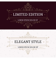 Set of vintage frames for luxury logos vector