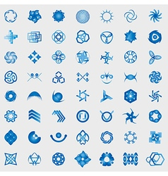 Unusual icons set - isolated on gray background vector