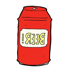 Comic cartoon beer can vector