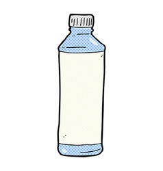 Comic cartoon water bottle vector