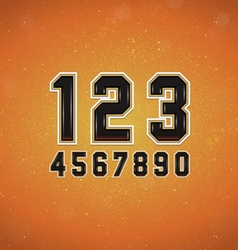 Sport style numbers vector
