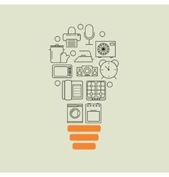 home appliances outline idea background vector image