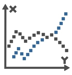 Functions plot toolbar icon vector