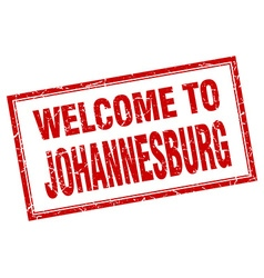Johannesburg red square grunge welcome isolated vector